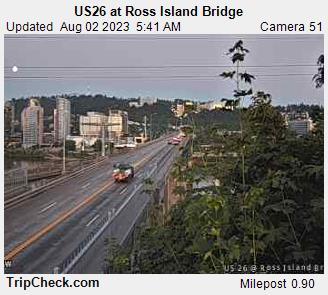 US 26 at Ross Island Bridge