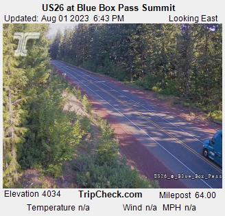 Road Conditions at Blue Box Pass near Timothy Lake