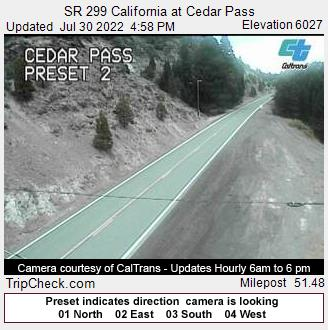 SR 299 California at Cedar Pass