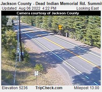 Dead Indian Memorial Road summit between Ashland and Lake of the Woods, Oregon, courtesy Jackson County Oregon and ODOT.