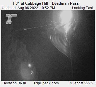 road cam, I-84 at Deadman Pass looking East
