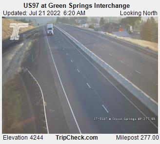 Klamath Falls Webcam, Highway 97 at Green Springs Interchange, courtesy ODOT.