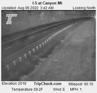 I-5 at Canyon Creek Pass. Courtesy ODOT.