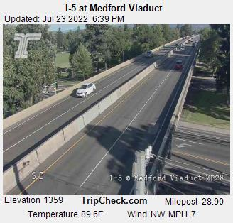 I-5 viaduct southbound, Medford. Courtesy ODOT.