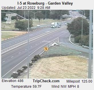 View of Roseburg Garden Valley Exit at I%