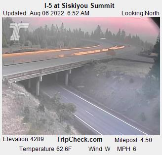 I-5 at Siskiyou Summit