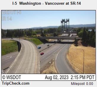 I5 Vancouver, WA at SR-14