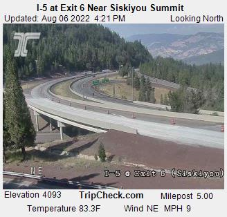 I-5 at Exit 6 Near Siskiyou Summit