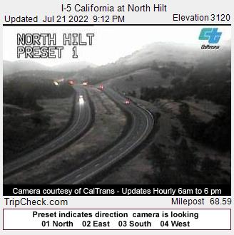I-5 California at North Hilt