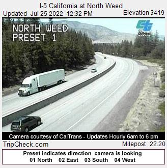 I-5 California at North Weed