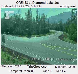 ORE138  at ORE230 near Diamond Lake