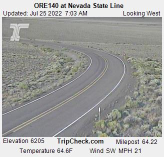 ORE140 at Nevada State Line