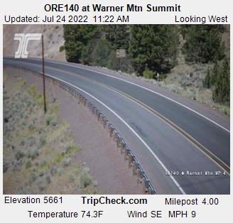ORE140 at Warner Mtn Summit