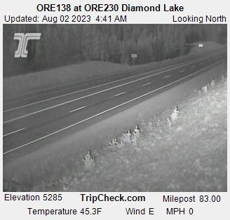 ORE 138 at ORE 230 Diamond Lake South webcam image