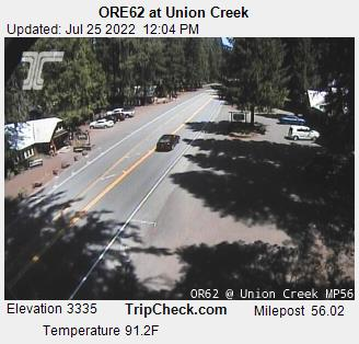 Highway 62 at Union creek, Oregon, courtesy ODOT.