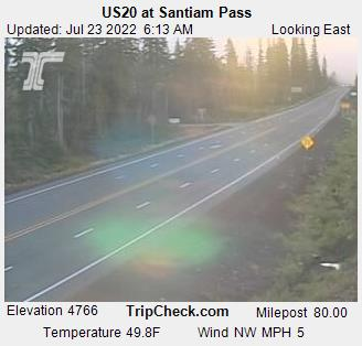 Santiam Pass webcam image