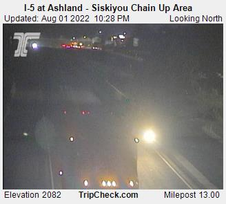 I-5 at Ashland - Siskiyou Chain Up Area