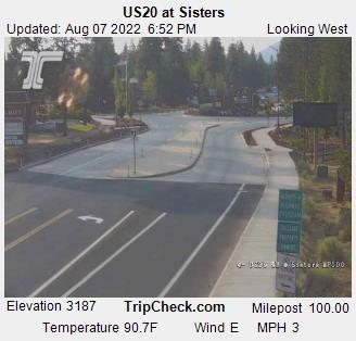 US 20 TripCheck Cameras - Sisters - Camp Sherman Fire District