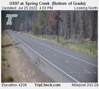 US97 at Spring Creek  (Bottom of Grade)