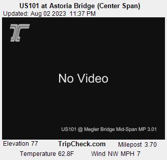 US101 at Astoria Bridge (Center Span), Oregon Road and ...