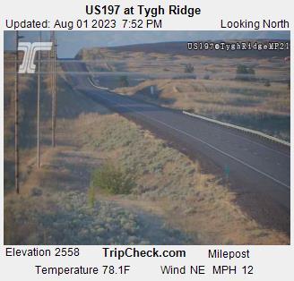ODOT Hwy U.S. 197 at Tygh Ridge Webcam