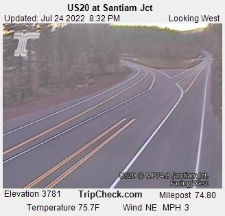 Wildfire closes Hwy 20 west of Santiam Pass | KVAL