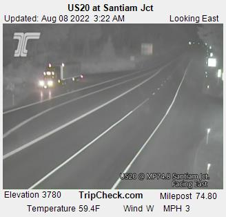 Highway 20 ODOT cameras for Santiam Junction, Santiam Pass and ...