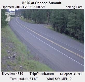 RoadCam - US26 at Ochoco Summit