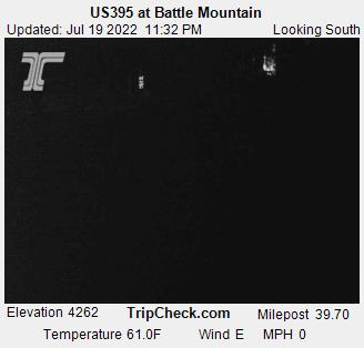 US 395 at Battle Mountain.