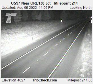 US97 Near ORE138 Jct - Milepoint 214