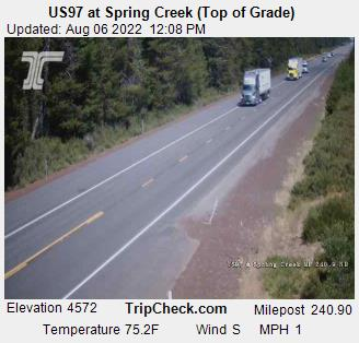 US97 at Spring Creek (Top of Grade)