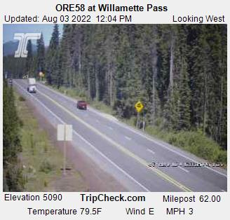 Highway 58 at Willamette Pass and Salt Creek Tunnel | KVAL