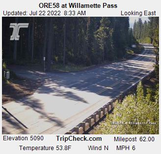 Willamette Pass Ski cam