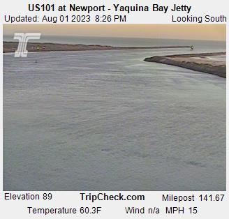 Newport Oregon, Tide Webcam and Weather