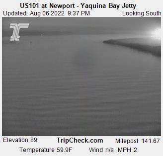 Live Weather Cam: Yaquina Bay Jetty