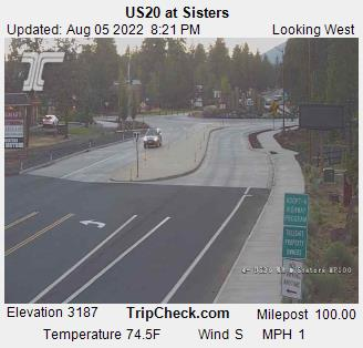 Highway 20 at Sisters Webcam Image