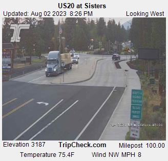 Highway 20 at Sisters