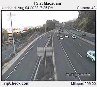 RoadCam - I-5                                              at Macadam