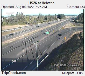 RoadCam - US26 at Helvetia
