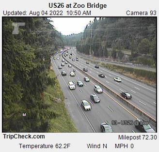 RoadCam - US26 at Zoo Bridge