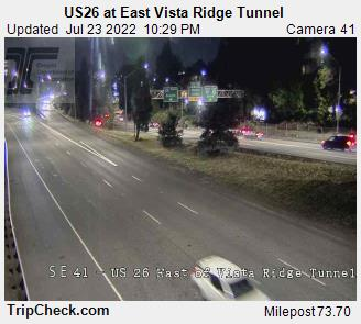 US 26 at East Vista Ridge Tunnel