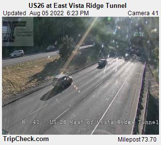 RoadCam - US26 at East Vista Ridge Tunnel