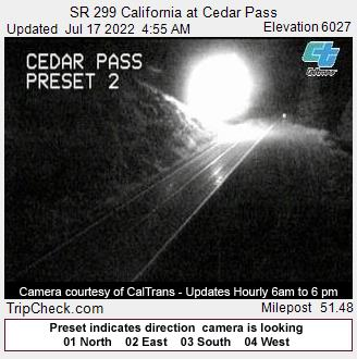 SR 299 California at Cedar Pass Oregon Road and Traffic Cam