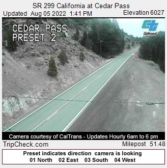 RoadCam - 299 California at Cedar Pass