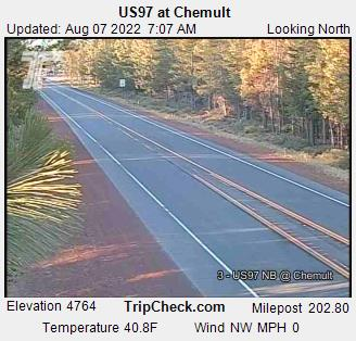 RoadCam - US97 at Chemult
