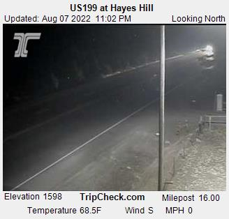 RoadCam - US199 at Hayes Hill Summit