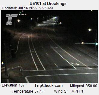 US 101 south at Brookings, OR courtesy Oregon Department of Transportation.
