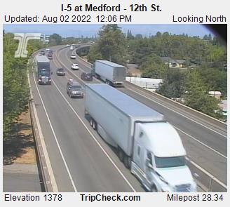 I-5 viaduct northbound, Medford. Courtesy ODOT.