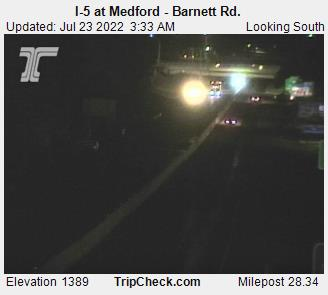 I-5 near South Medford Interchange, view south. Courtesy ODOT.