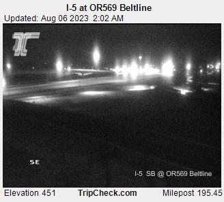 I 5 At Or569 Beltline Oregon Road And Traffic Cam